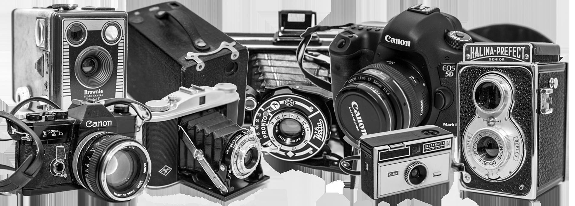 analoga gamla kameror